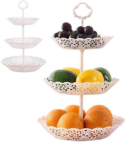 TaiAn Obstkorb 3 lagiger Süßigkeite Korb Weihnachts Deko Etagere Obstschale Obst Ständer Kuchenständer für Kekse, Trockenfrüchte, Geschenk