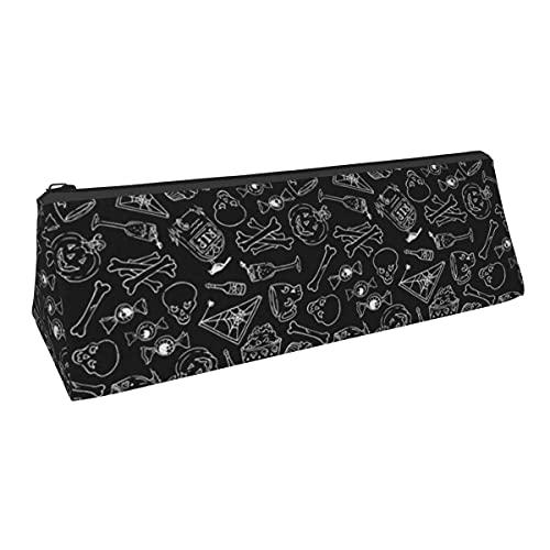 Bolsa de almacenamiento para bolígrafos con forma de triángulo, de Halloween, para niños, niñas, universidad, escuela media, oficina, alicates de papelería