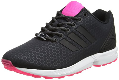 adidas Damen ZX Flux Trainer Low, Schwarz (Core Black/core Black/FTWR White), 44 EU