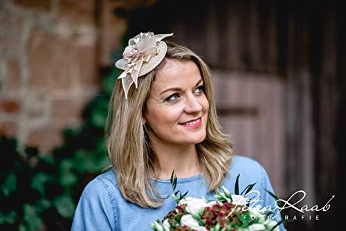M64 Fascinator Headpieces mini Hütchen Royal hat Hut Ballhut Victoria Derby Kentucky Derby couture Millinery Hochzeit