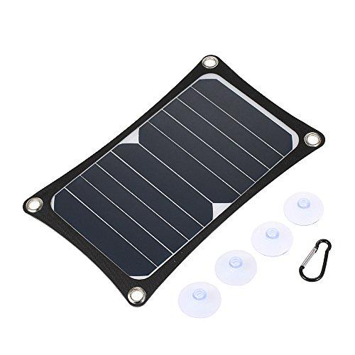 Lixada Solar oplader 6 W Portable Ultra Thin Monokristalline silicium zonnepaneel 3000 mAh hoge capaciteit batterij DC 5 V USB-poort IP65 waterbestendigheid.