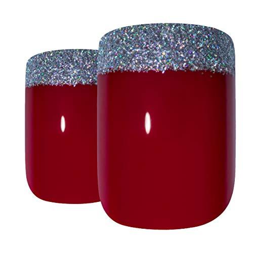 Art bling faux ongles français manucure rouge 4 Danger Moyen Conseils . UK