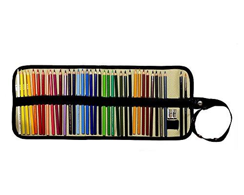 KOH-I-NOOR 36 Aquarellstifte Set mit Pinsel im beigen Stiftegürtel Mondeluz Aquarell Buntstifte