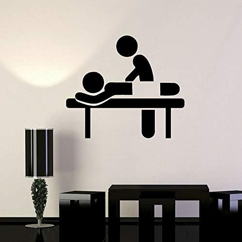 jiushivr Terapia de SPA Vinilo Tatuajes de Pared Sala de masajes Salón de Belleza Relax Etiqueta de la Pared Decoración del Dormitorio Accesorios Bathoom Decoración del hogar 57x65cm