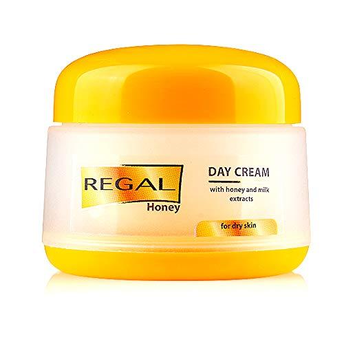 Crème de jour REGAL au miel et aux extraits de lait pour tous types de peau
