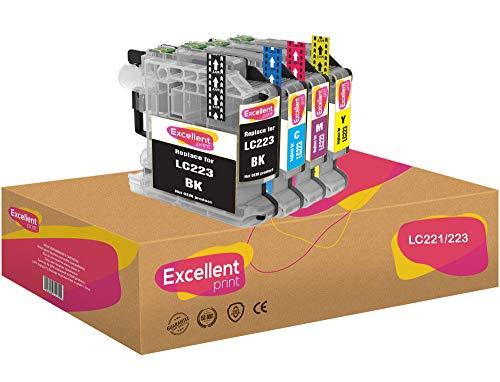 Excellent Print LC221 LC223 Compatible Cartuchos de Tinta para Brother MFC-J4420DW MFC-J4620DW DCP-J4120DW MFC-J4625DW