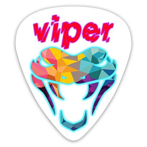 Púas de guitarra con diseño de Viper (paquete de 12) surtidas para guitarras eléctricas acústicas para púas de guitarra de 6 cuerdas / 4 cuerdas/bajo/ukelele