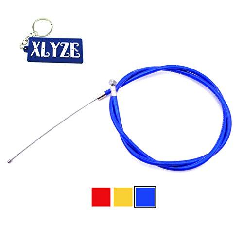 XLYZE Gas Cable del acelerador azul para 43cc 47cc 49cc Mini Moto Kids ATV Quad Dirt Super Pocket Bike