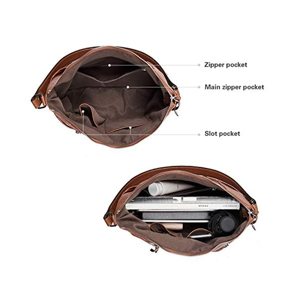 CLUCI Briefcase for Women Leather Slim 15.6 Inch Laptop Business Shoulder Bag Black CLUCI Women Genuine Leather Hobo Handbags Designer Top Handle Tote Large Purses Fashion Ladies Shoulder Bag 5