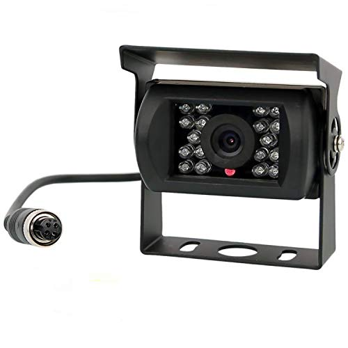 Backup Camera, Reversing Camera, Waterproof Night Vision Wide View Angle Rear View Camera with 4 Pin GX12-4 Connector for RV Camper Truck Trailer Bus Van