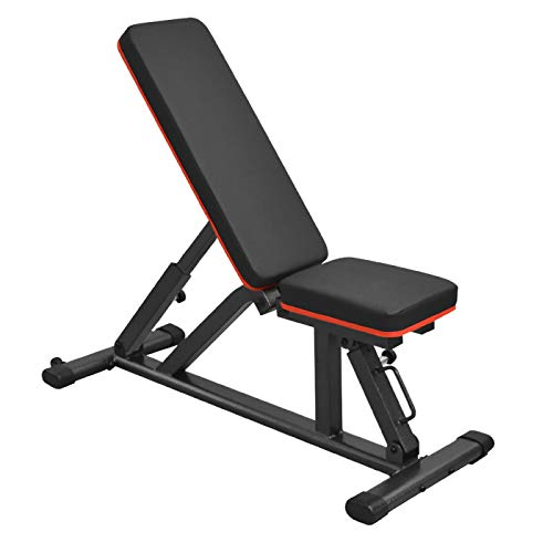 インクラインベンチ フラットベンチ 耐荷重300kg 40段階調整可能 ダンベル トレーニングベンチ