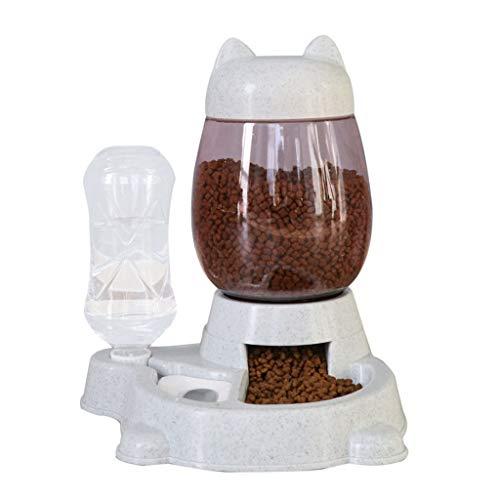 PRJEDLK Alimentador de Mascotas, dispensador de Agua automático Pet Water, Boca no húmedo y tazón de Mascotas Anti-volcado