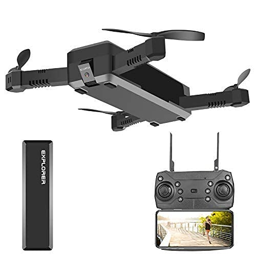 JJDSN Drone And Camera, WiFi PFV 1080P Real-Time Transmission Folding Drone, 120deg; Wide-Angle Quadcopter, Long Endurance, Suitable for Beginners Adults