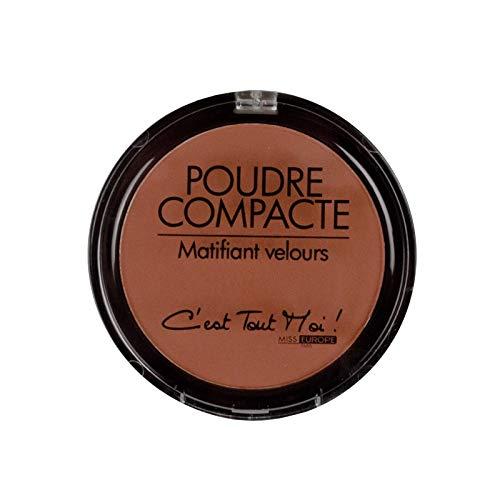 Poudre compacte pour le maquillage, matifiante, couleur \