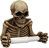 1PC Skeleton Toilet Paper Roll Wall-Mounted Retro Skeleton Paper Towel Holder Skull Roll Holder...