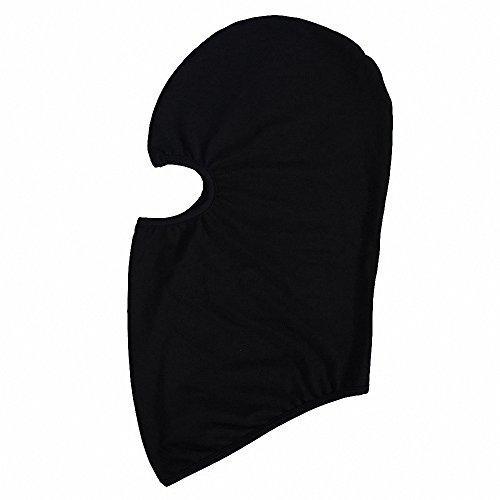 Maoko Kids Thin Hood Balaclava,Ski Face Mask Balaclava for Child (20 Colors) Black