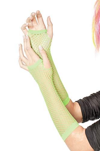 Netz-Handschuhe, Neon Grün