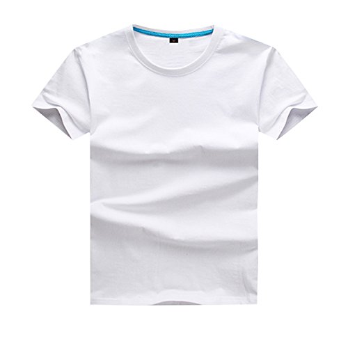 lilii kupulau キッズ 半袖 Tシャツ クルーネック 無地 丸首 ティーシャツ 130 ホワイト