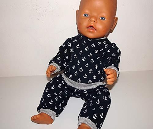 maderegger Pyjama für Puppe Größe 40-45 cm