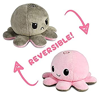 TeeTurtle   The Original Reversible Octopus Plushie   Patented Design   Love + Hate   Happy + Angry   Show your mood without saying a word!