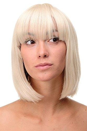 WIG ME UP - Perruque dame wig sexy coupe carrée lisse mélange de blond clair et blond doré 25 cm 7803-303/220