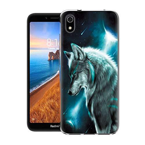 Yoedge für Xiaomi Redmi 7A Hülle, TPU Silikon Transparent Schutzhülle Handyhülle mit Muster Motiv Hülle Superdünn Stoßfest 360 Grad Bumper Weiche Cover für Xiaomi Redmi 7A 5,45
