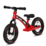 Micro Balance Bike Deluxe Bicicleta de Paseo, Color Rojo/Negro, Talla única (GB0033)