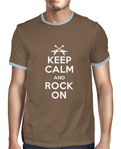 tostadora - Mnner - T-Shirt Keep Calm and Sie Keep Calm Schokolade L