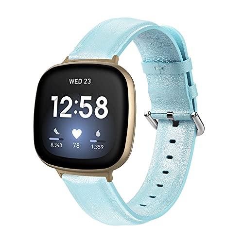RVTYR Banda de Color sólido Compatible con Versa 3 / Sense, Correas de reemplazo Mujeres Hombres Relojes Sport Pulsera Smart Watch Pulsera Compatible con Versa 3 / Sentido, Azul Correas de Repuesto