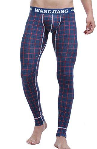 ARCITON Hombre Pantalones Largos Calzoncillos Cómoda y Suave Ropa Interior Térmica Hombre Leggins S(Cintura: 66cm-73cm) 5005CKU Cuadros