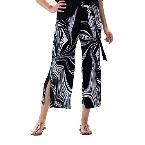 Marmor schwarz und weiß Hose 5773 Gr. 44, schwarz / weiß