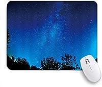 KAPANOUマウスパッド Wonderland Night Starry Sky Moon Rise Out of Horizon Clouds Blurred Reflection ゲーミング オフィ良い 滑り止めゴム底 ゲーミングなど適用 マウス 用ノートブックコンピュータ