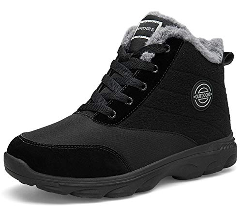 BomKinta Women's Snow Boots Keep Warm Anti-Slip Soft Sole Warm Fur Lined Winter Ankle Booties Black...