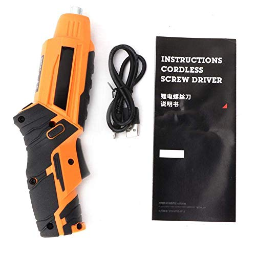 JF-XUAN Cordless Electric Drill Electric Drill Handheld Rechargeable Cordless Electric Screwdriver with LED Light