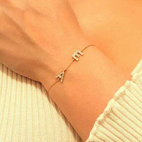 Yellow 10K or 14K Solid Gold Celebrity Style Small Sideways Cross Bracelet Rose or White Gold