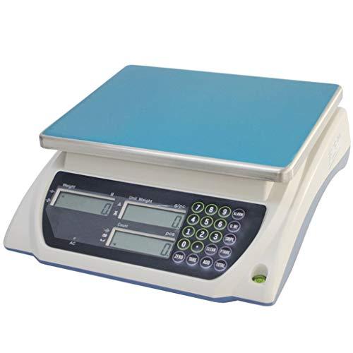 WCX weegschaal, 3 kg/0,1 g, roestvrij staal, industriële weegschaal, LCD-scherm, voor detailhandelhandels, Express