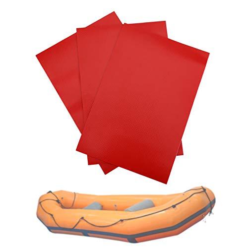 Parches para Brincolines Inflables, Parches para Piscinas, Kit de Reparación de Bote Inflable, Parche de Kayak Inflable, Parche de Reparación de PVC para Reparar Balsa Inflable, Juguete (Rojo)