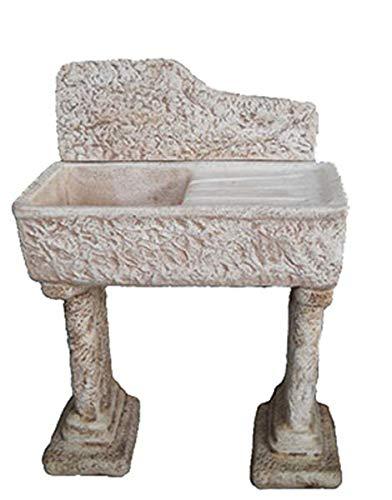 Artistica Graillo lavelo in cement, lavabo, lavandino, fontein, afmetingen: 80 x 40 x 115 cm.