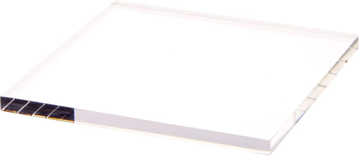 Plymor Clear Square Luxury goods Acrylic Display Base 0.375
