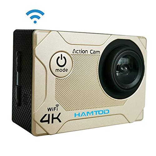 YANGJ S9 UHD 4K WiFi Sport Camera met Waterdichte behuizing, Generalplus 4247, 2.0 inch LCD-scherm, 170 graden groothoeklens (zwart) actiecamera's, Goud