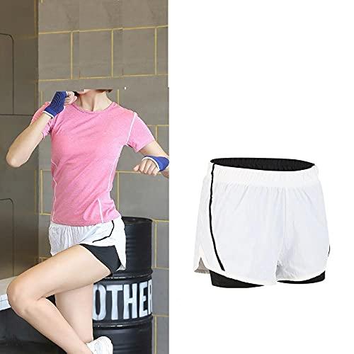 bayrick Caliente en Europa y América,Pantalones Cortos Ajustados de Yoga Falso de Dos Piezas Velocidad Seca Seca Cintura Alta Ropa Casual Pantalones-8_S