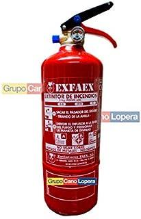 Grupo Cano Lopera | Extintor Universal Polvo Seco ABC con Capacidad de 2 Kg | Homologado | Eficacia 8A - 34B | Útil para Casa - Coche - Caravana - Moto - | Incluye soporte