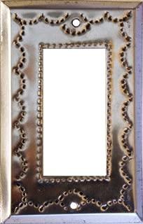 Fine Crafts Imports Single Decora Silver Tin Switchplate