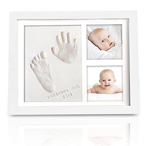 Baby Handabdruck und Fußabdruck Set - Gipsabdruck Baby Hand und Fuß für Neugeborene - Gips- & Abdrucksets für Babyerinnerungen - Baby Dusche Baby Abdruckset (Alpine White)