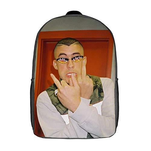 QUEMIN Mochila de ocio Bad Bunny Mochila clásica para portátil de 17 pulgadas, mochila de camping, mochila de viaje al aire libre, mochila escolar universitaria