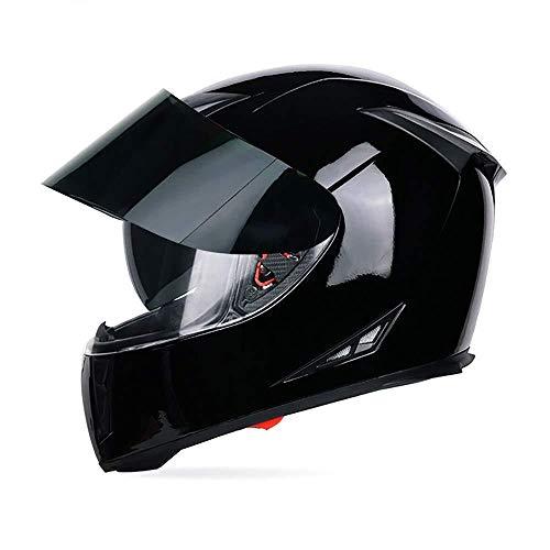 SBZYH Full Face Motorradhelm Motorradhelm Rollerhelm · DOTCertified - Full Face Racing Motorradhelm Mit Sonnenblende Für Erwachsene Männer Frauen,D-XXL(63~64cm)