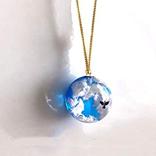 Blue skye Necklace and Crystal Cloud Pendant Necklace Catenary for Women