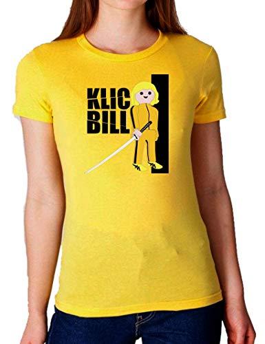 The Fan Tee Camiseta de Mujer Click Playmobil Kill Bill 001 S