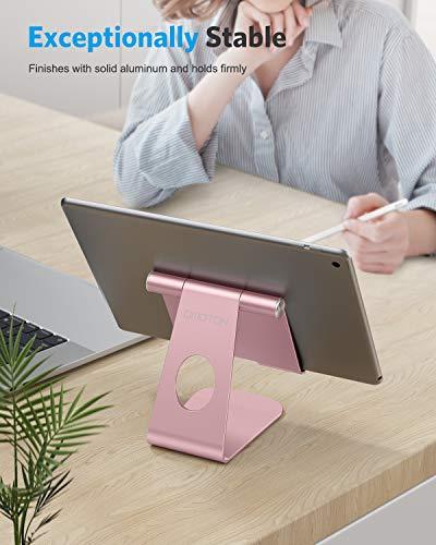 OMOTON Soporte Tablet Ajustable, Multi-ÁnguloBase Tablet de Aluminio para iPad Pro 10.5/9.7/12.9/10.2, iPad Mini 2/3/4/5, iPad Air/Air 2, Samsung Tab, Kindle y Otras Tabletas de 7-13 Pulgadas, Gris 7