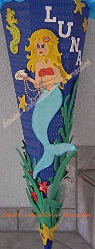 Generisch Bastelanleitung Meerjungfrau (nur Motiv)
